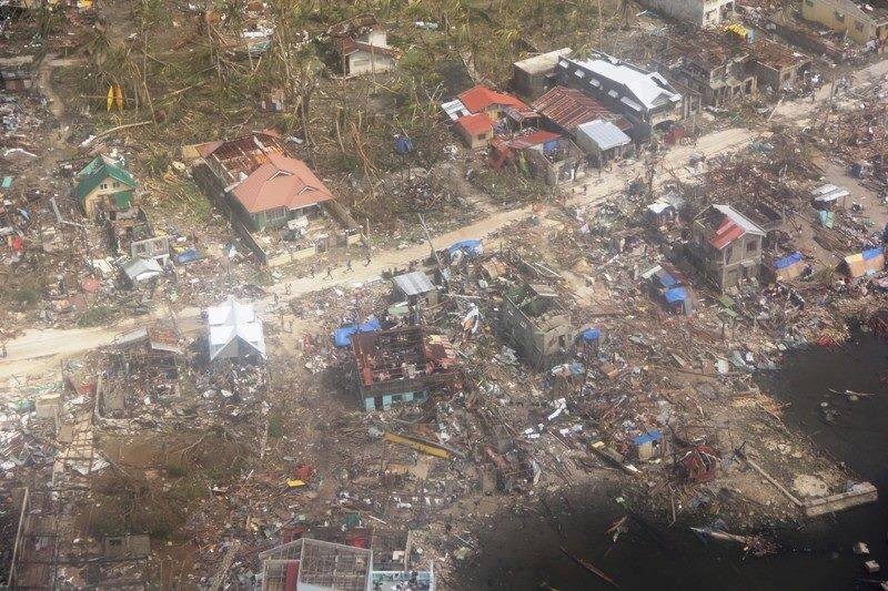 An aerial view of Guiuan, East Samar. Photo by AFP, Facebook