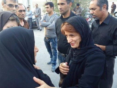 Nasreen Stoudeh with Sattar Beheshti's mother