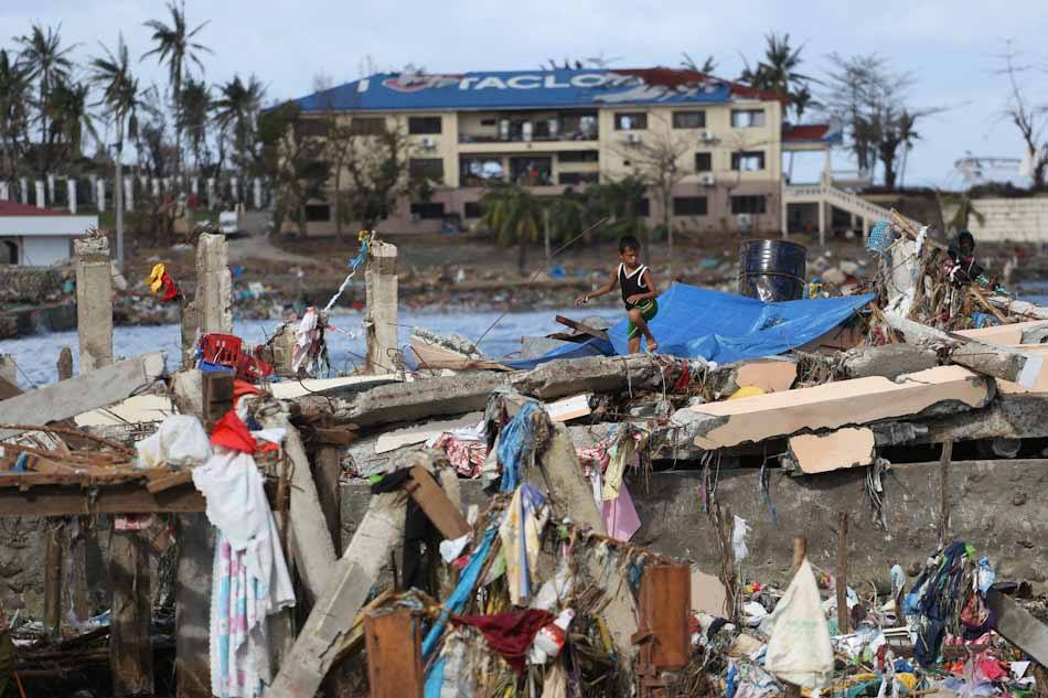 Tacloban City after the storm surge. Photo by ABS-CBN, Facebook