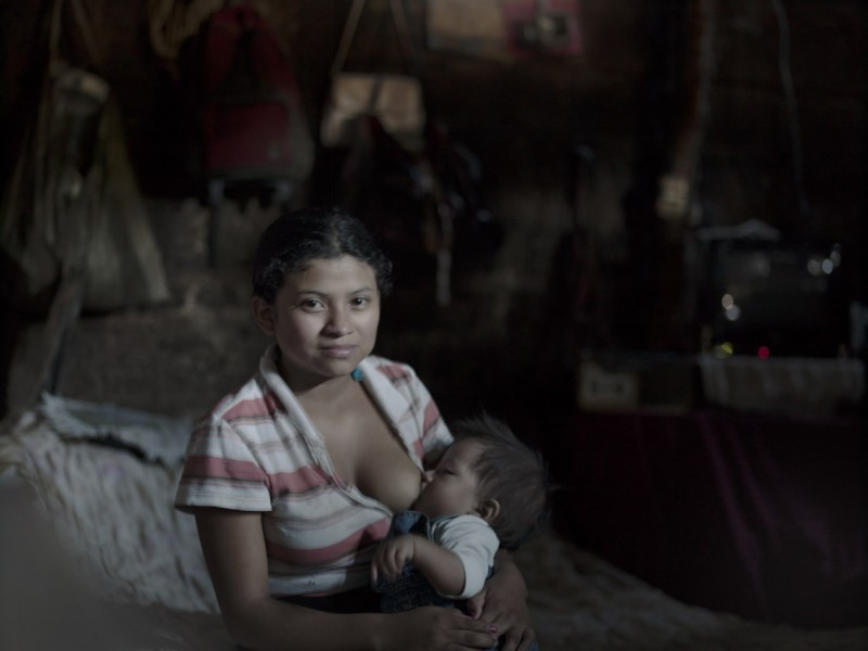 Heidy, from Guatemala, was 12 when she became a mother. Photograph by Linda Forsell, used with permission.