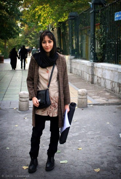 """Where's my favorite hangout place? Near the Tehran University Campus. There's a design center where all artists, whether graphic artists or sculptors such as myself, like to come together and work. I just love that place."" Susan, seen near Tehran University From the ""Humans of Tehran"" page"