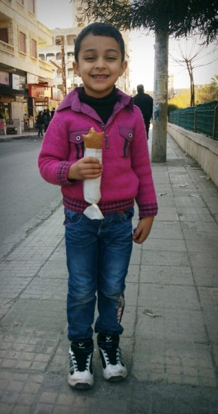 """how much I love eating Falafel whenever my mum brings me back from school"" Taken from the Humans of Syria page"