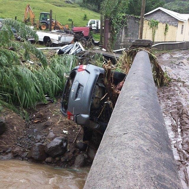 Flood damage in St. Vincent