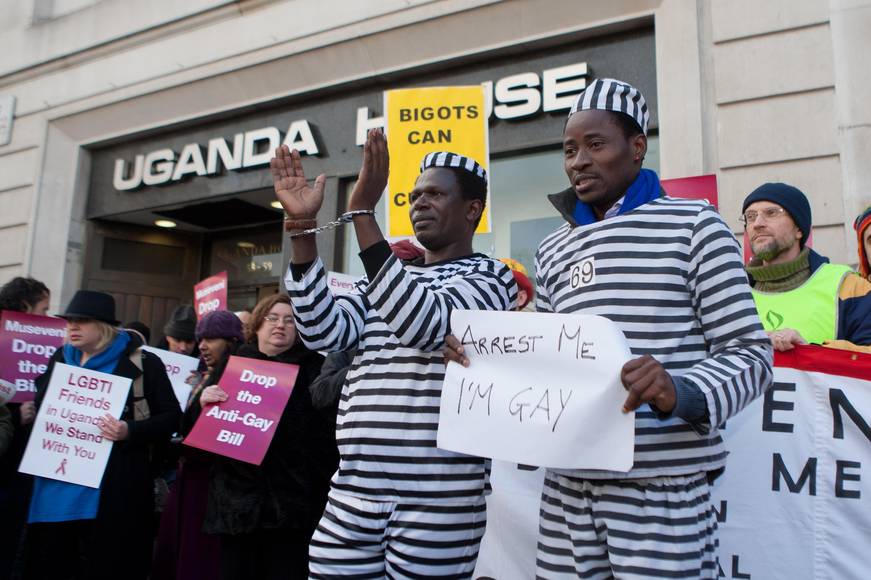 Protest against Uganda anti-gay legislation