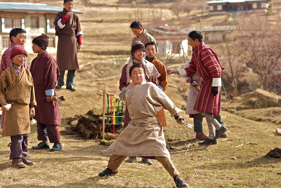 Bhutanese youth playing. Image by Morgan Ommer. Copyright Demotix (15/2/2009)