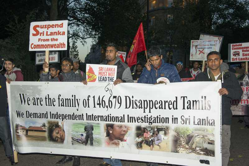 Tamil Demonstrators held a rally in UK. Image by LK Aldama. Copyright Demotix (2/11/2013)