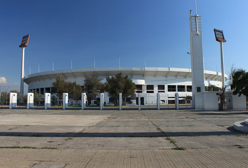 Chile's National Stadium. Photo from Wikimedia Commons, under a Creative Commons license (CC BY 2.0)