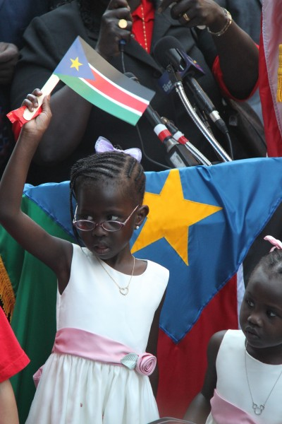 A South Sudanese girl at independence festivities