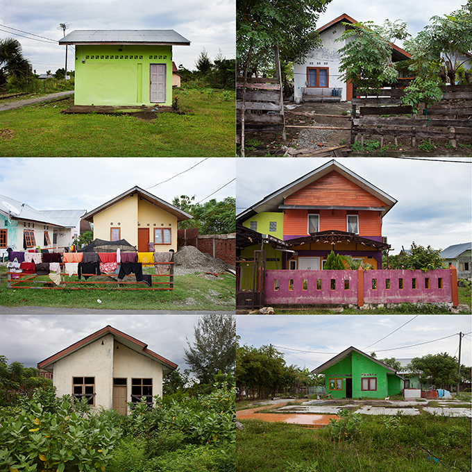 New homes customized by their inhabitants, Banda Aceh, Indonisia, Photos by Ivan Sigal, 2012.