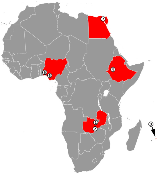 Six special economic zones setup by the PRC in four African countries on wikipedia CC-BY-2.0