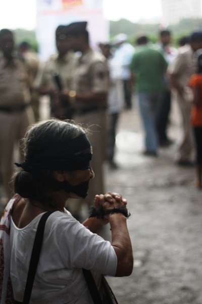 A protester outside Mumbai's Azad Maidan during the 2012 Janlokpal Bill protests. Copyright Chirag Sutar (24/5/2013)
