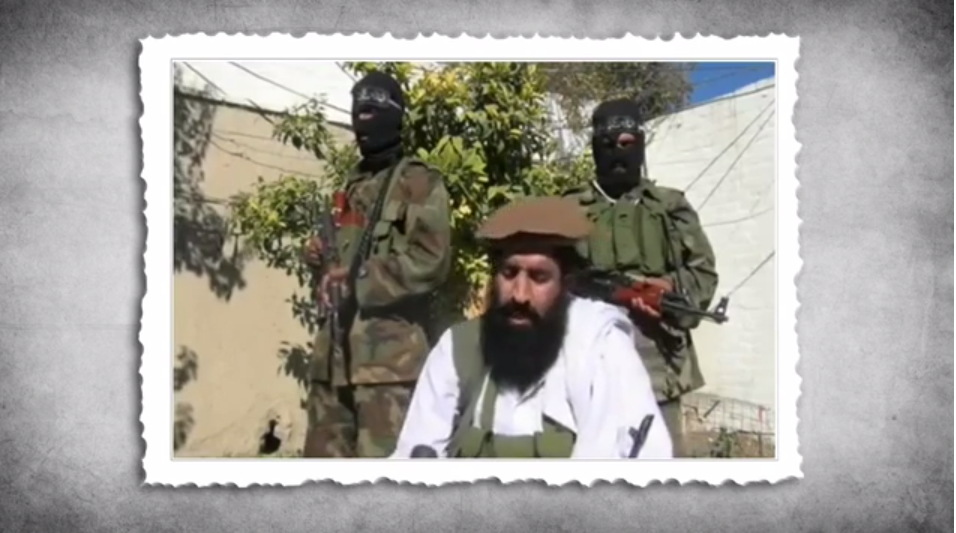 "Screenshot of Pakistani Taliban Spokesman Shahidullah Shahid in an interview with a local reporter, from Vimeo, uploaded by ""TalibanMediaWatch"""