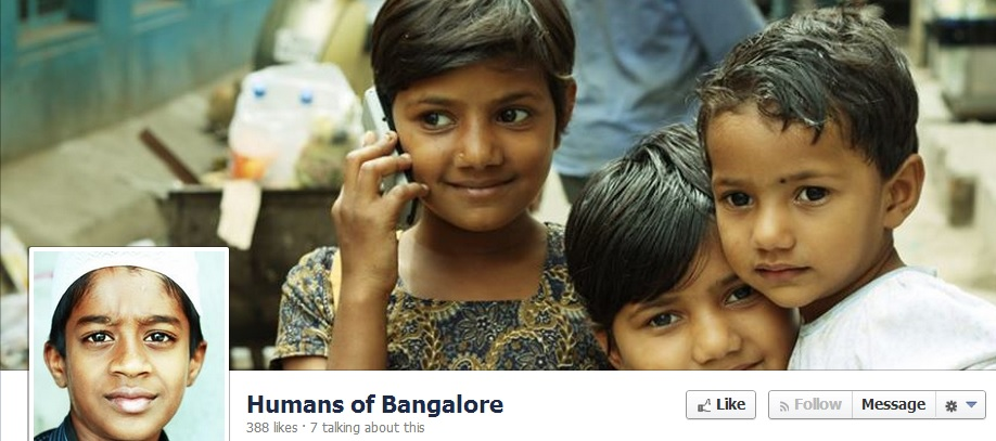 Screenshot of Humans of Bangalore page