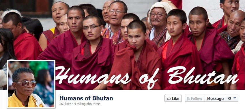 Screenshot of Humans of Bhutan webpage