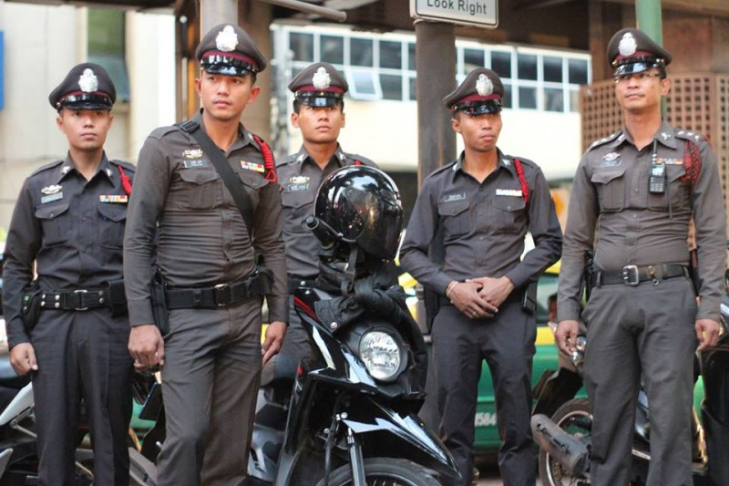 Bangkok police. Photo from Humans of Bangkok Facebook page
