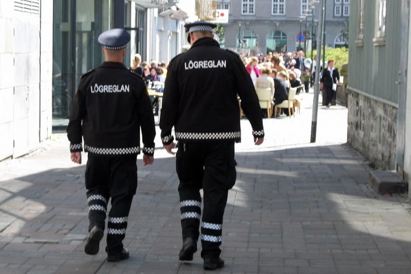 Police in Reykjavik, Iceland