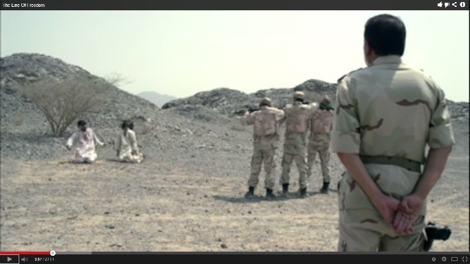 Screenshot from the Short-film The Line of Freedom.