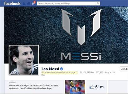 Leo Messi's Facebook page