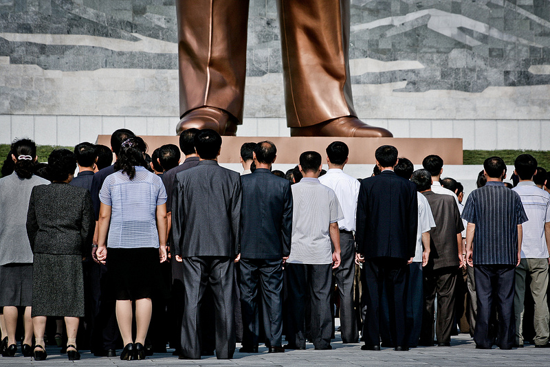 Kim Jong Il's statue at Pyongyang. Photo by Flickr user: Matt Paish (CC: AT-SA)
