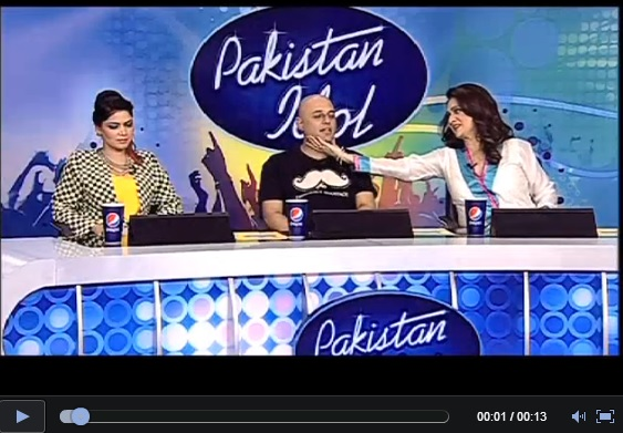 Screenshot showing Pakistan Idol judges