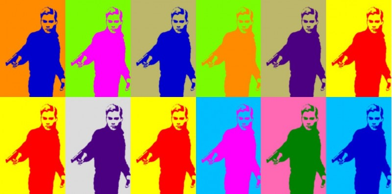 An Andy Warhol version of the young gunman. Anonymous image distributed online