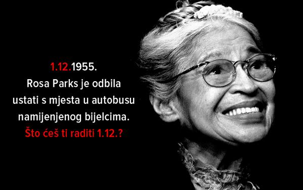 "An image by an anonymous author that was widely circulated on social networks throughout the month of November 2013, prior to the referendum; ""December 1, 1955. Rosa Parks refused to stand up from a bus seat reserved for whites. What will you do on December 1?"""
