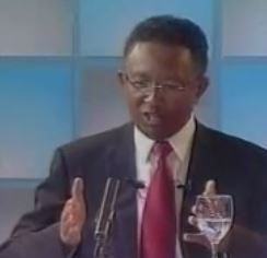 Screen shot of Hery Rajaonarimampianina during the presidential debate - Public Domain