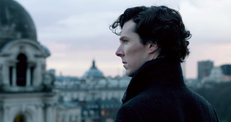 Still from the BBC's trailer for Sherlock's series three premiere. YouTube screenshot.