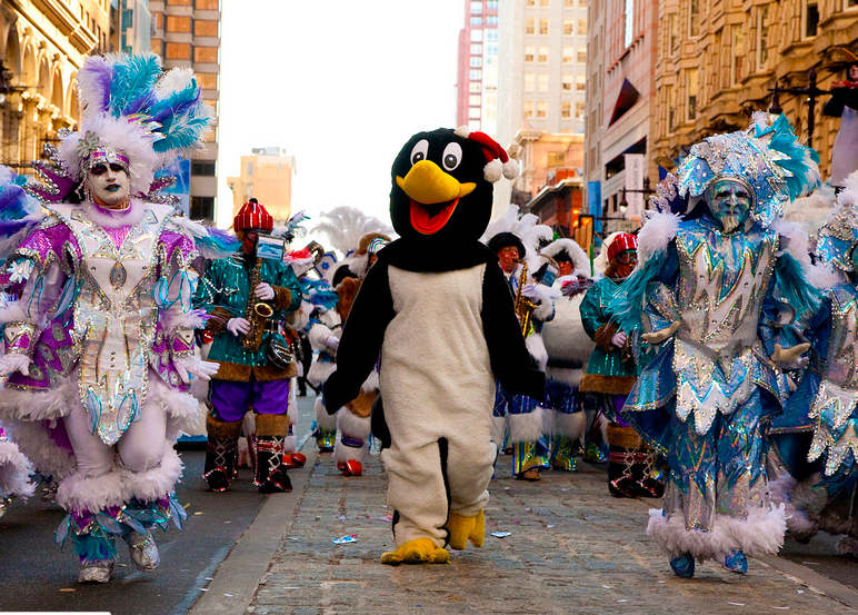 2010 Mummers Parade. Photo by Brian Lin via Flickr (CC BY-SA 2.0)