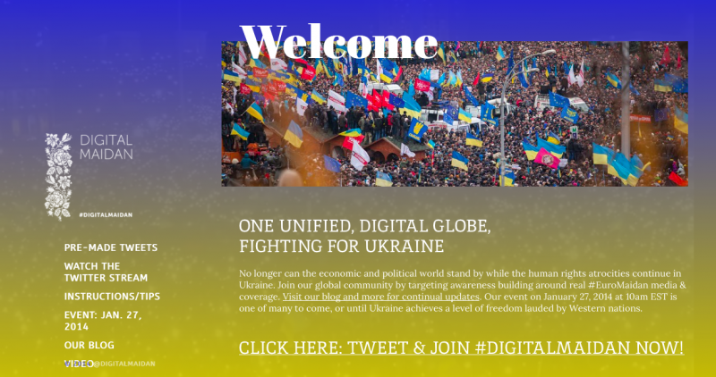 Screenshot of  digitalmaidan.com website.