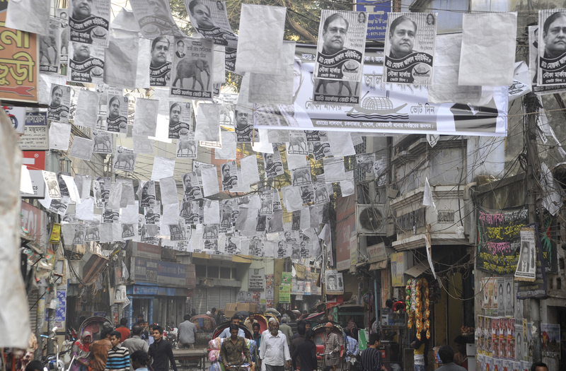 Dhaka is packed with thousands of election posters