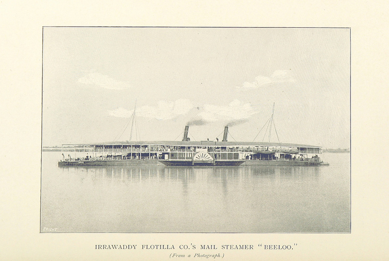 A steamer at Irrawaddy River