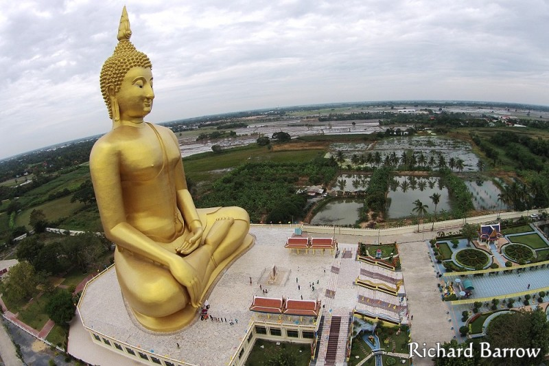 Giant Buddha at Wat Muang in Ang Thon