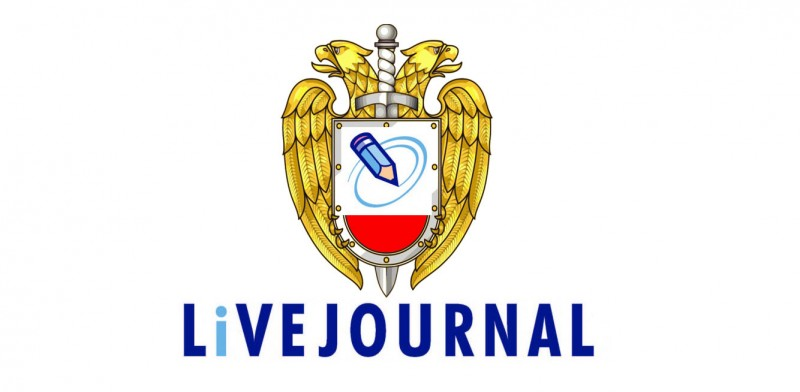 The FSO's emblem graces LiveJournal's logo. Images mixed by Kevin Rothrock.
