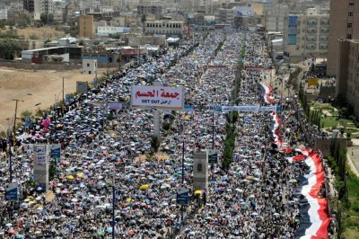 A photo from the Friday marches in Sanaa in 2011 demanding the fall of former president Ali Abdullah Saleh