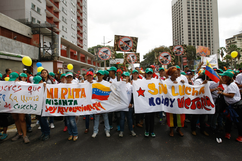 Women march for peace in Caracas, Venezuela. Photo by Jesus Gil, Copyright Demotix.