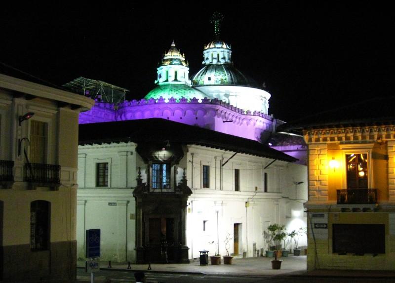 Sucre and Benalcázar street corner, Quito, Ecuador.