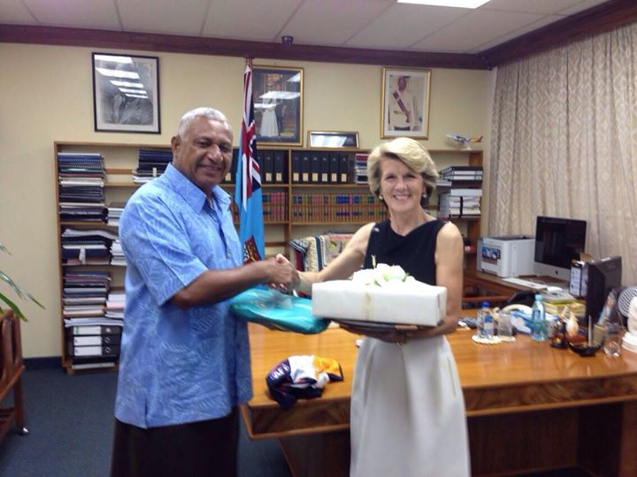 PM Bainimarama meets Australian Foreign Minister, Julie Bishop