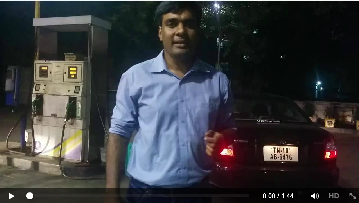 Screenshot from the video uploaded by Kiruba Shankar