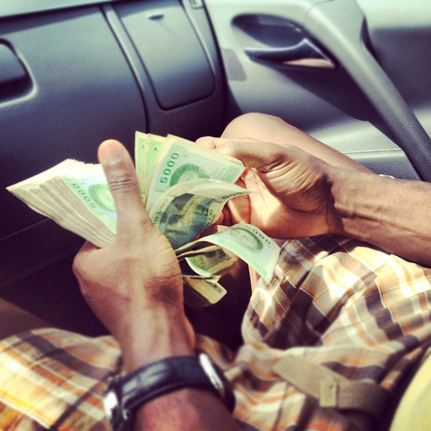 """African money #CFA #Malabo"". Photo shared on Flickr by Kaysha (CC BY-NC-ND 2.0)"