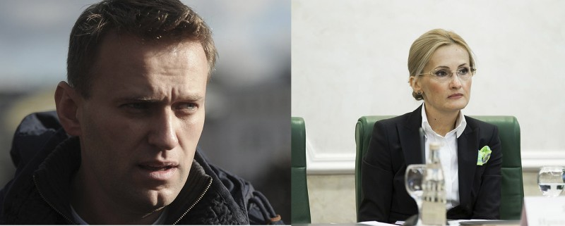 Alexey Navalny (left) and Irina Yarovaya (right). Images from Wikimedia commons.