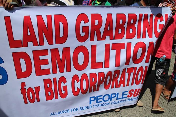 Protesters warn against land grabbing in favor of big business. Photo from Facebook of Elle Freem