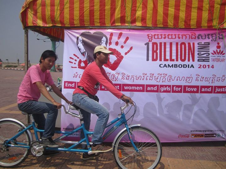 Cambodia's bike event was blocked by the police