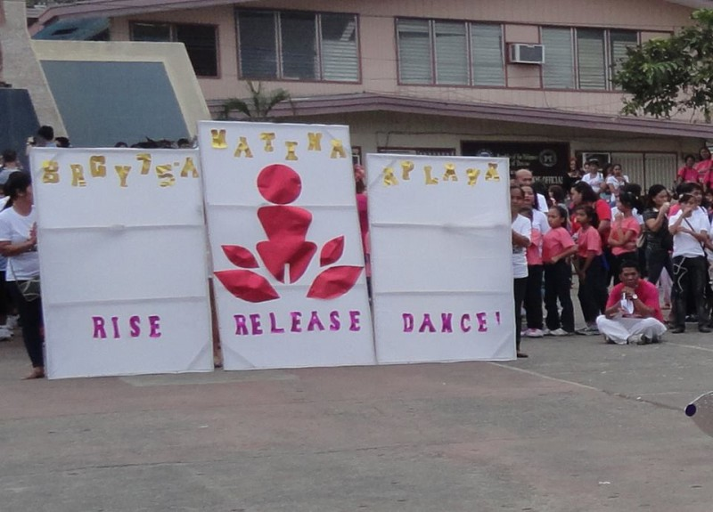 'Rise, Release, Dance' activity in Davao City, located in the southern island of Mindanao in the Philippines