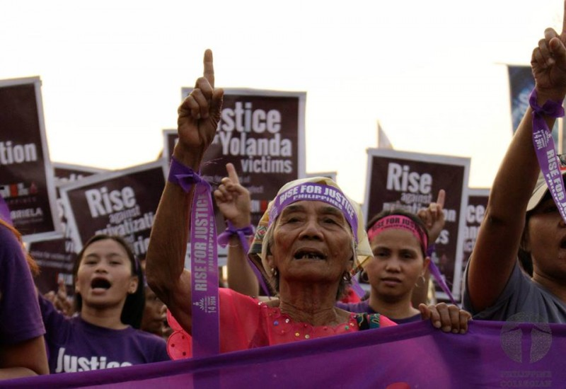 'Justice for typhoon Haiyan victims' is one of the demands of the campaign