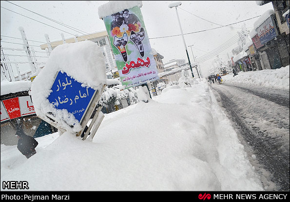 Snow in Mazandaran. Source: Mehr. Photographer: Pejman Marzi.