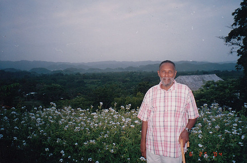 Stuart Hall at Good Hope Estate, Trelawny, Jamaica, 2004 - Photo by Annie Paul