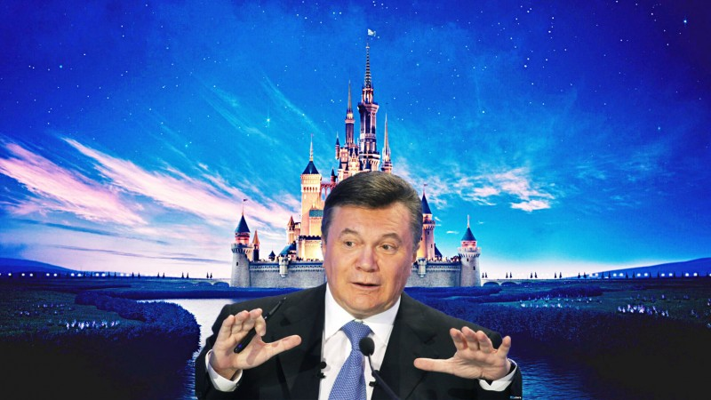 Yanukovich's presidential palace, where dreams came true. (And then crashed back to Earth.) Images mixed by Kevin Rothrock.