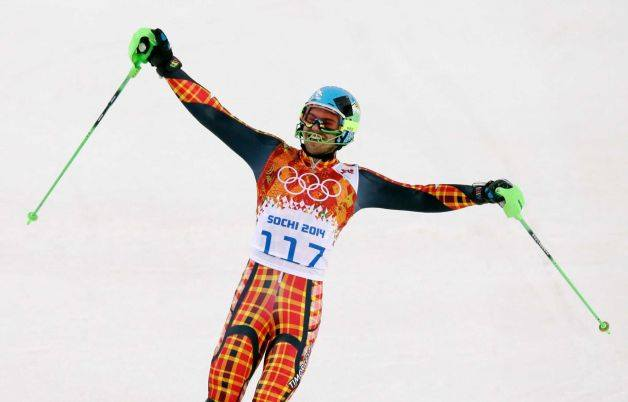 Yohan Goncalves Goutt representing East Timor in the Men's Slalom event.