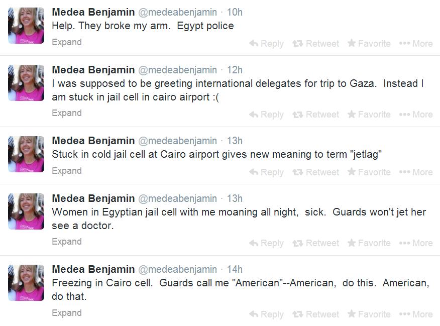Code Pink's Medea Benjamin Brutally Arrested by Egyptian